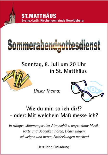 Sommerabend Gottesdienst Heroldsberg