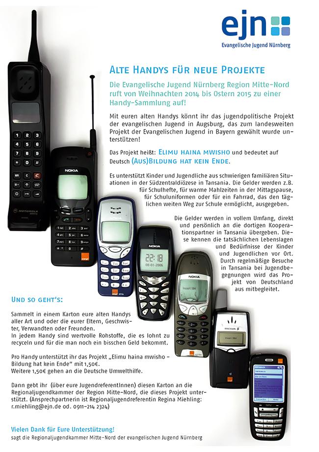 EJN sammelt alte Handys