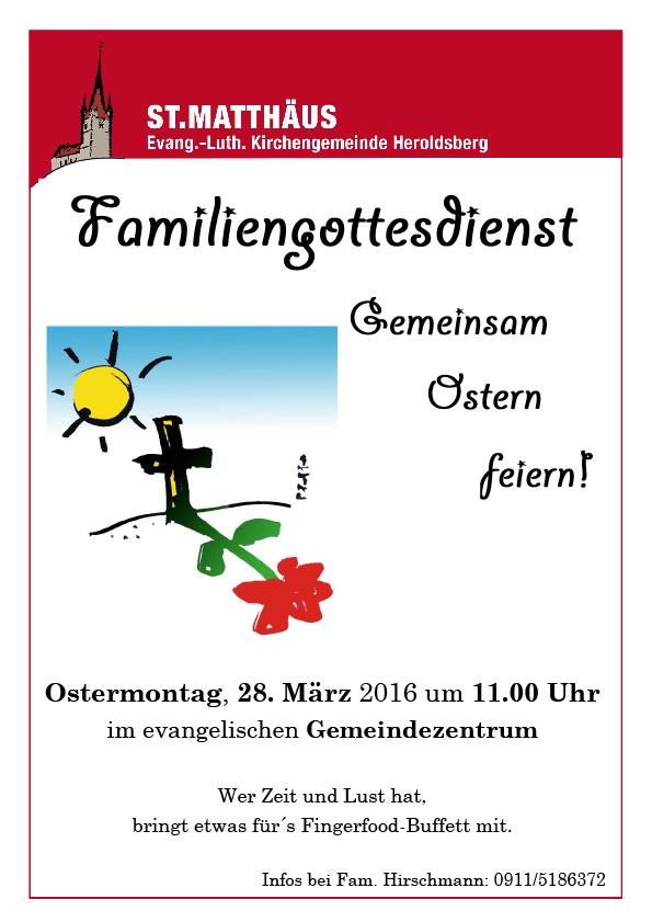 Familiengottesdienst Ostern Heroldsberg
