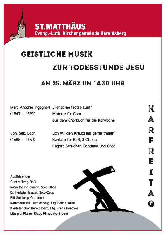 Kirchenmusik Karfreitag Heroldsberg