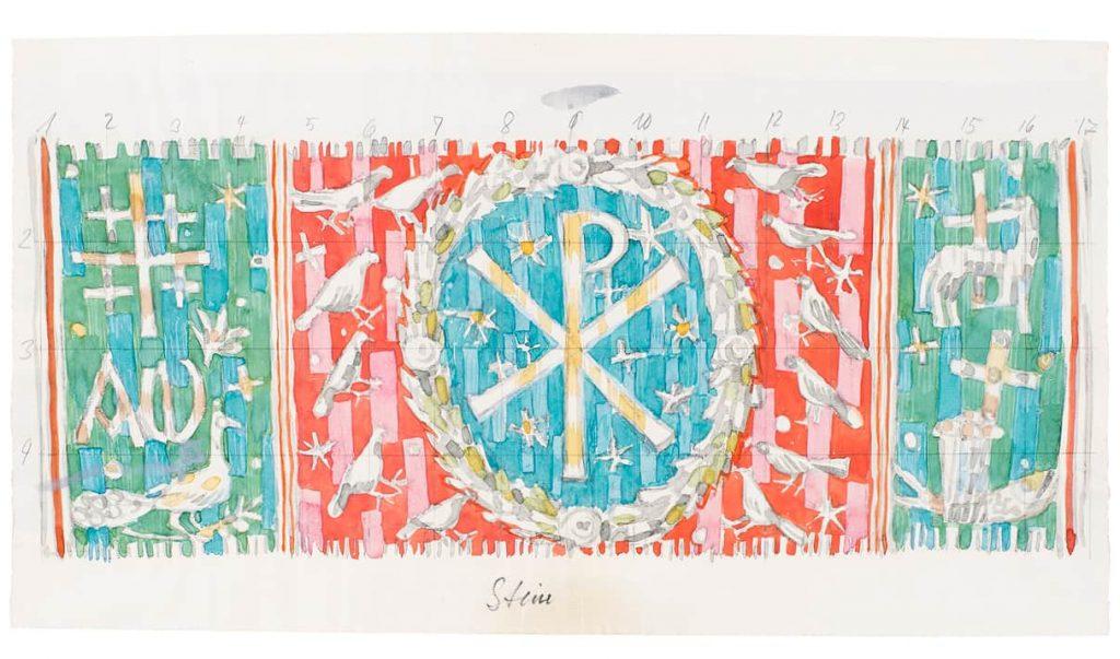 Entwurf von Fritz Griebel, 1957, 170 x 425 cm